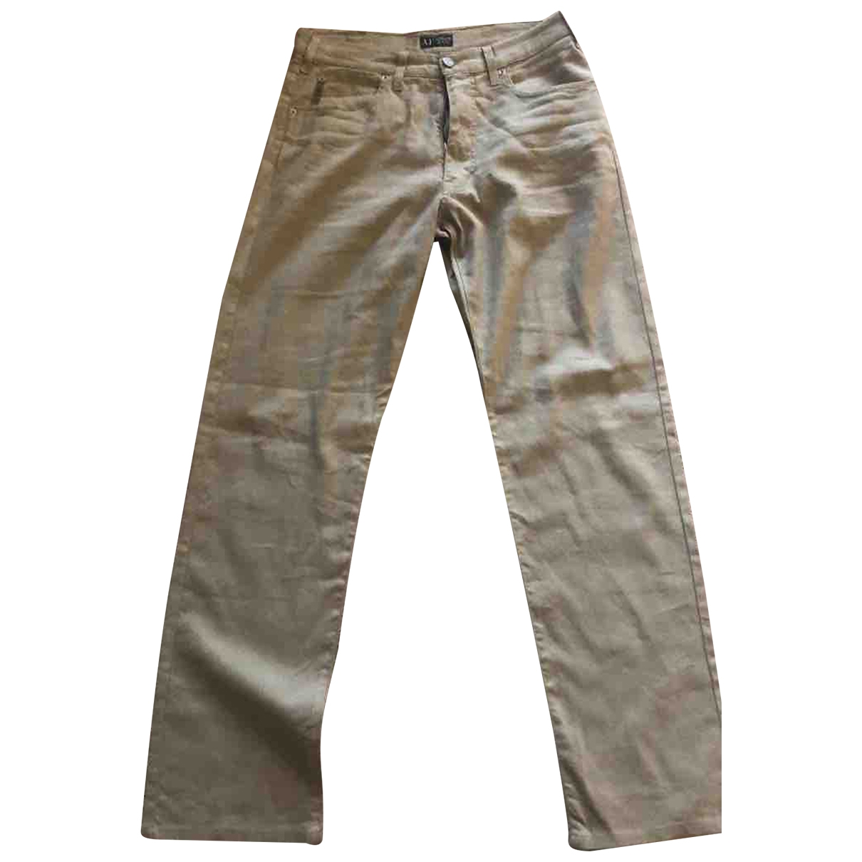 Armani Jeans \N Beige Cotton - elasthane Jeans for Men 30 US