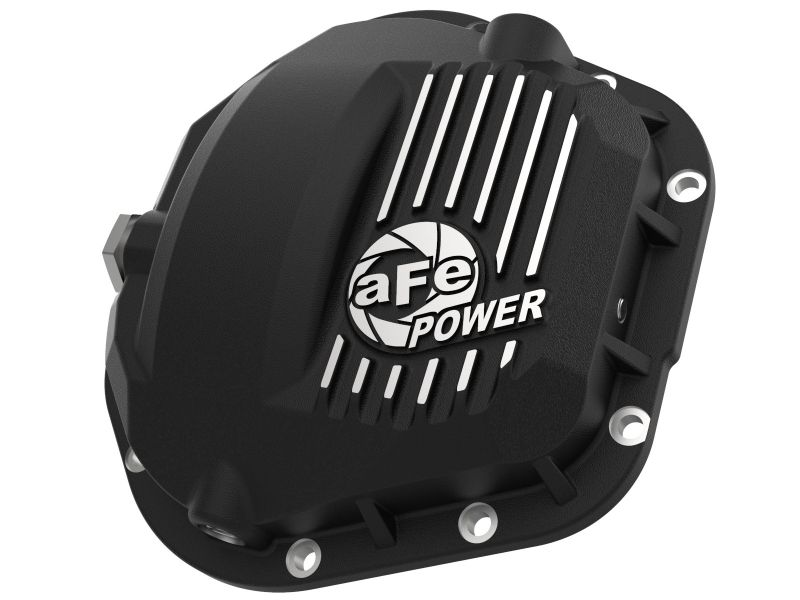 aFe Pro Series Dana 60 Front Differential Cover Black with Machined Fins Ford Trucks 2017-2020