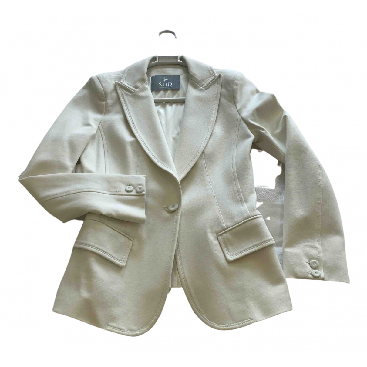 Non Signé / Unsigned \N Ecru jacket for Women 38 FR