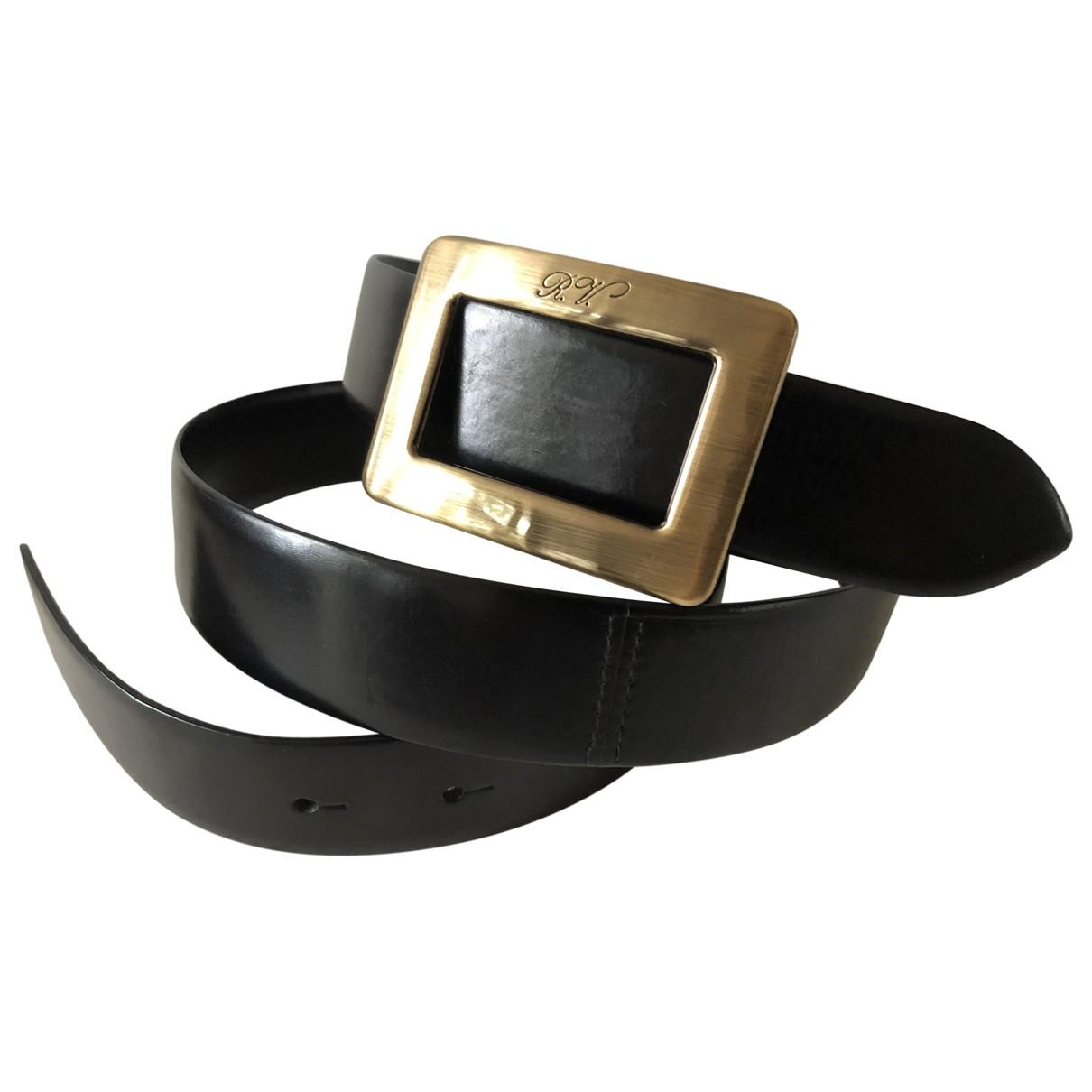 Roger Vivier \N Black Leather belt for Women 85 cm
