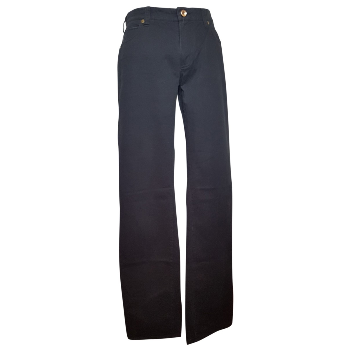 Armani Jeans \N Black Cotton - elasthane Jeans for Women 31 US