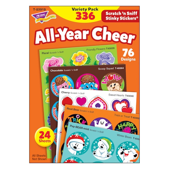 Trend Enterprises® All Year Cheer Stinky Stickers® | Michaels®