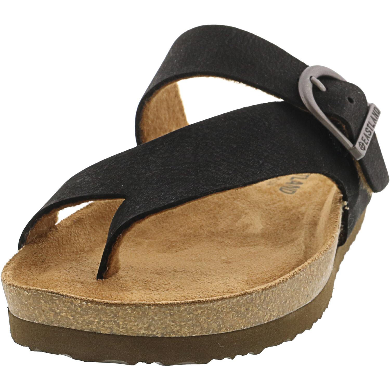 Eastland Women's Shauna Black Nubuck Sandal - 6M