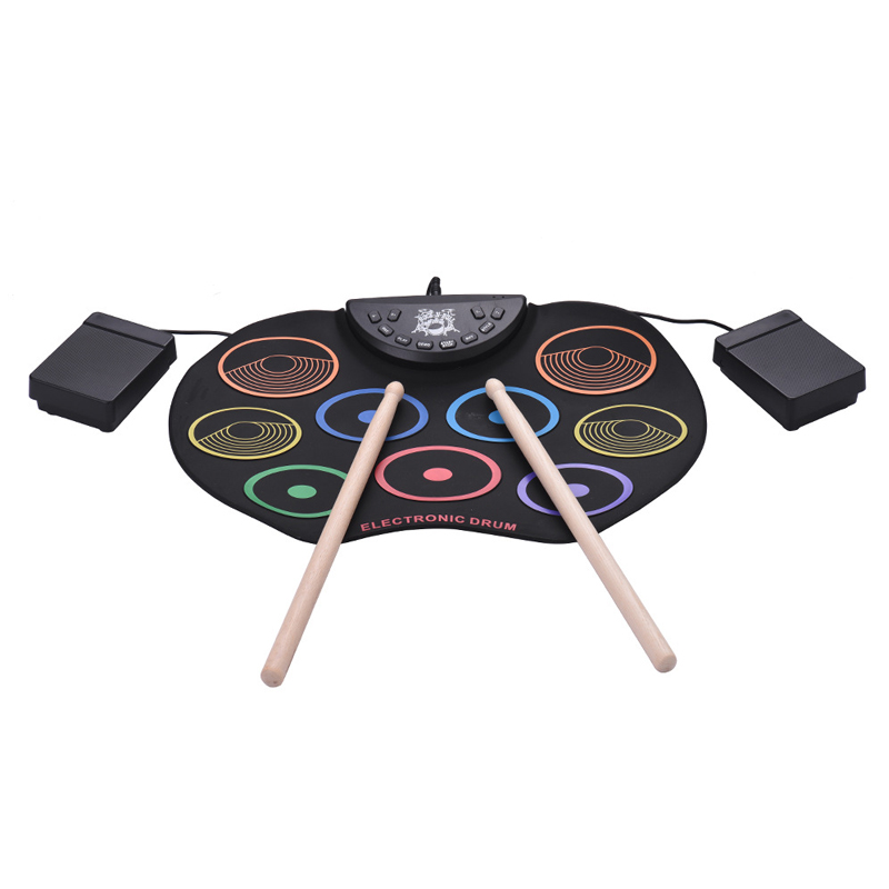 Compact Size Roll-Up Electronic Drum Kit