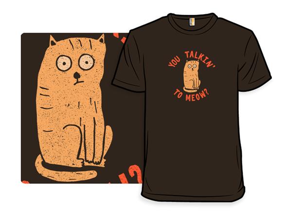 Meow Noir T Shirt