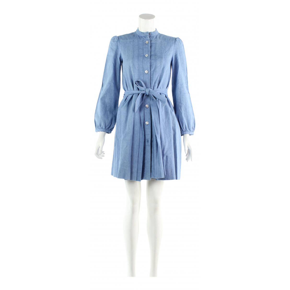Non Signé / Unsigned \N Blue Cotton dress for Women 34 FR