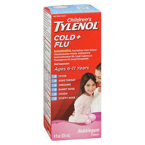 Tylenol Children's Cold + Flu Oral Suspension Bubblegum Flavor 4 Oz by Tylenol