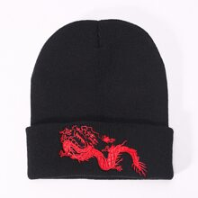 Chinese Dragon Embroidered Beanie