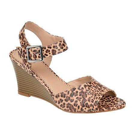 Journee Collection Womens Ricci Pumps Wedge Heel, 9 Medium, Multiple Colors