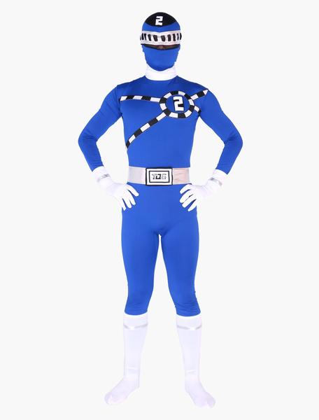 Milanoo Morph Suit Power Rangers Zentai Suit Full Body Lycra Spandex Bodysuit