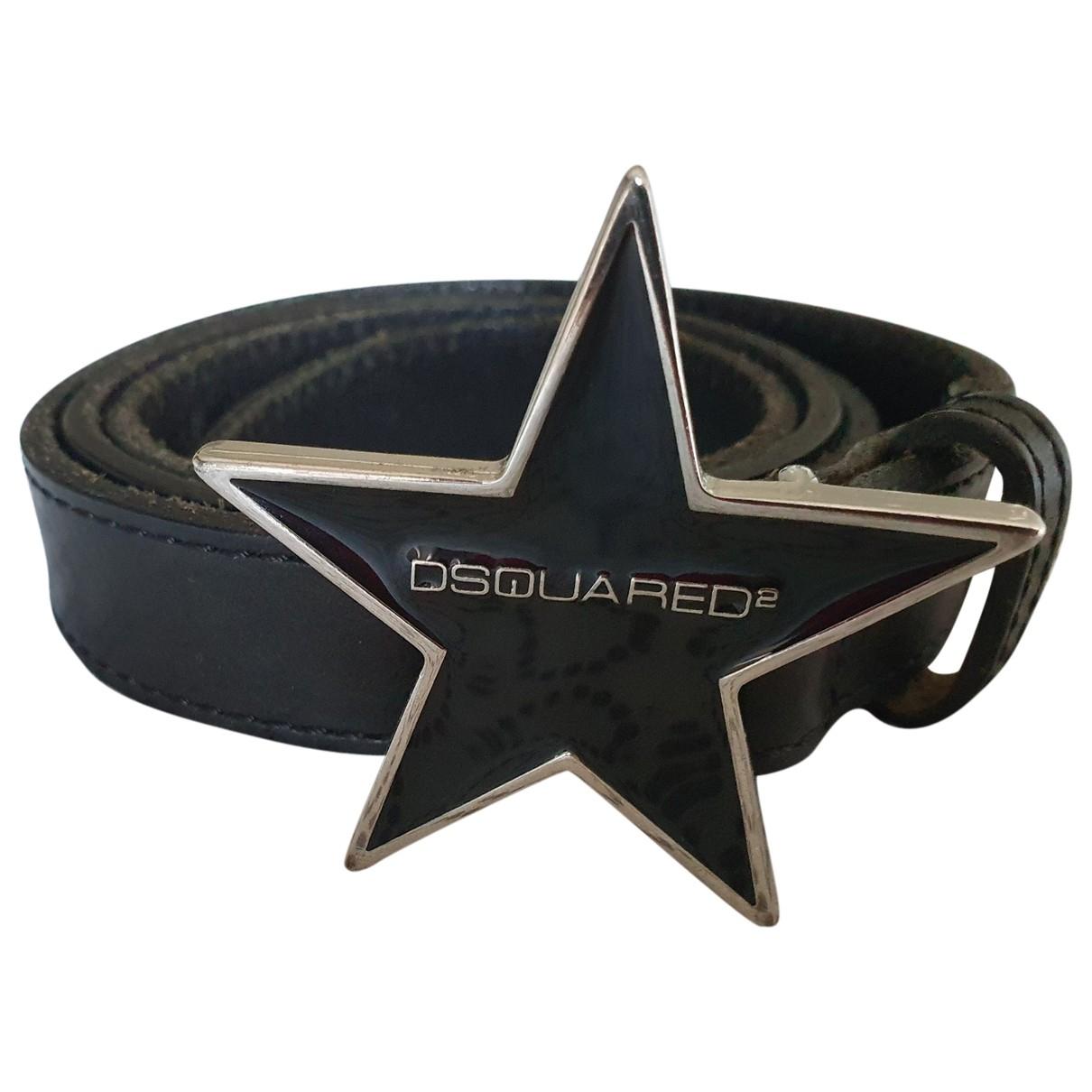 Dsquared2 \N Black Leather belt for Men 100 cm