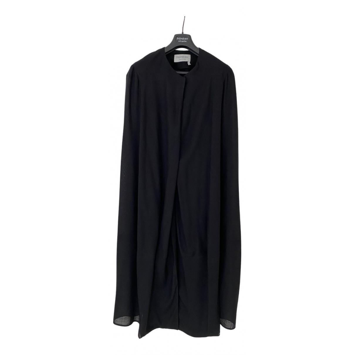 Yves Saint Laurent \N Black Wool coat for Women 38 FR