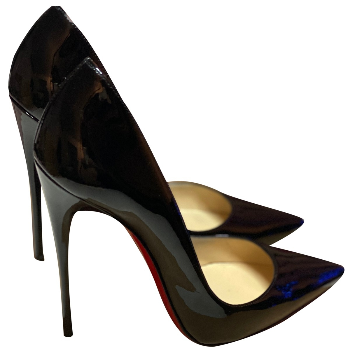 Christian Louboutin So Kate  Black Patent leather Heels for Women 5.5 UK