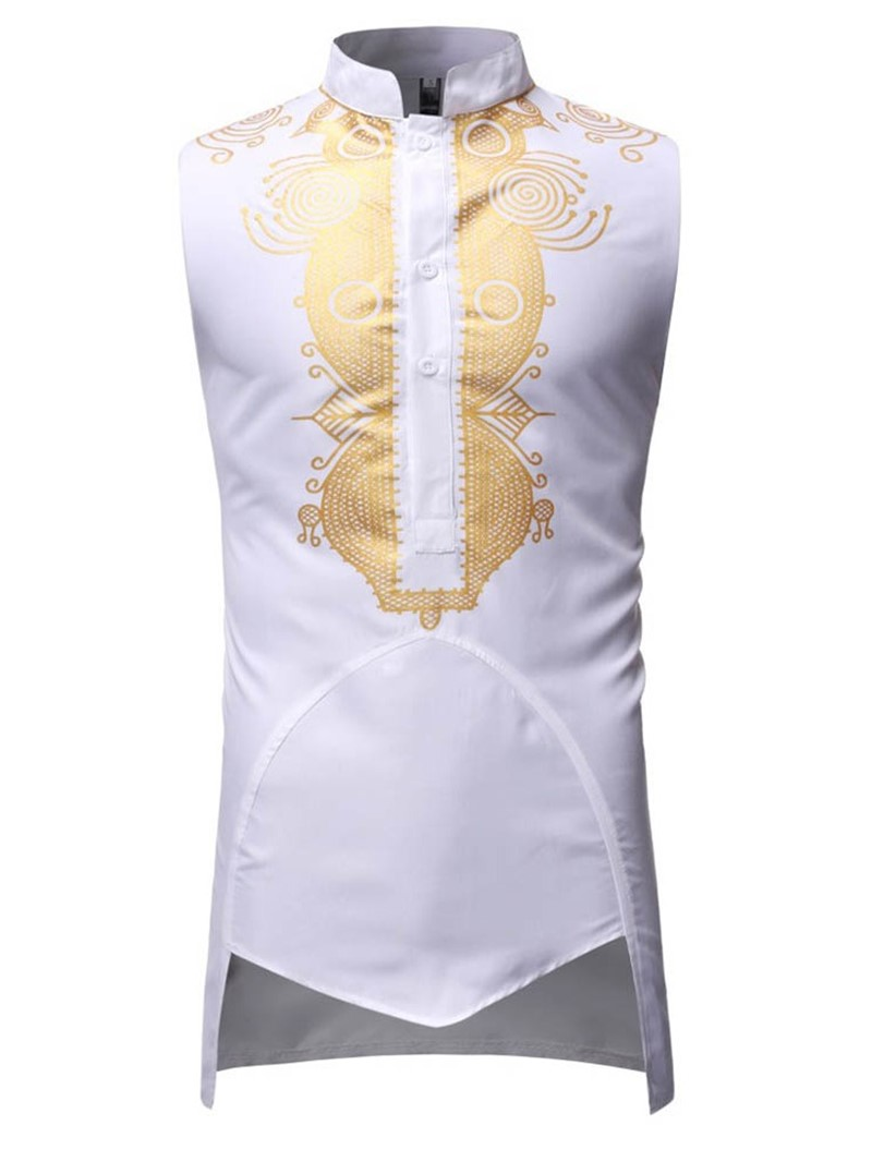 Ericdress African Fashion Dashiki Print Loose Mens Shirt