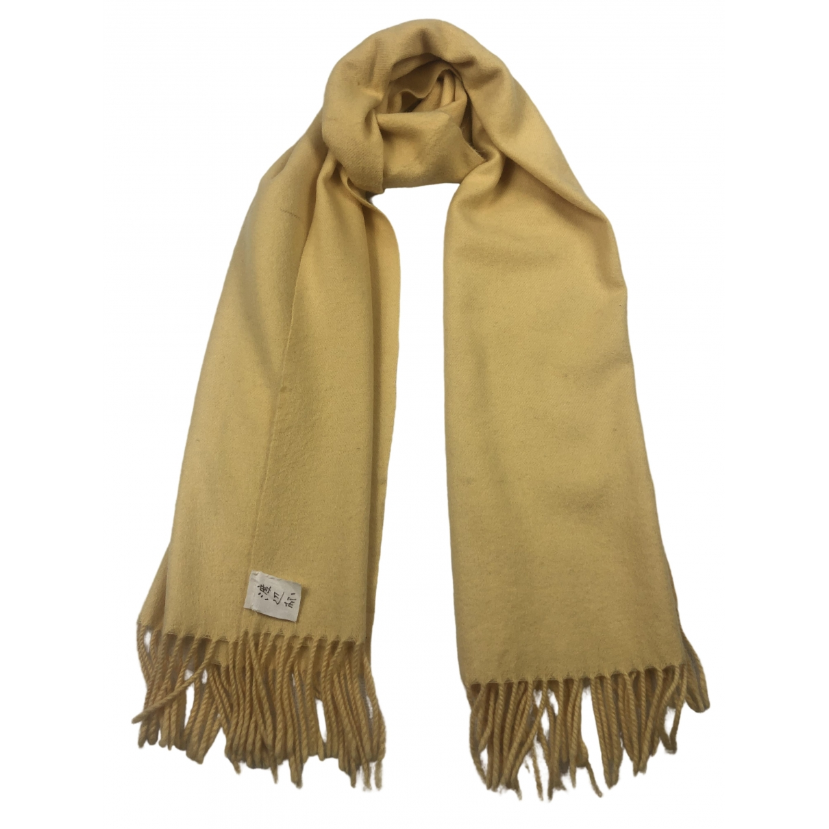 Courrèges \N Yellow Wool scarf for Women \N