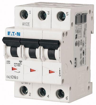 Eaton xEffect 10 A MCB Mini Circuit Breaker, 3P Curve C