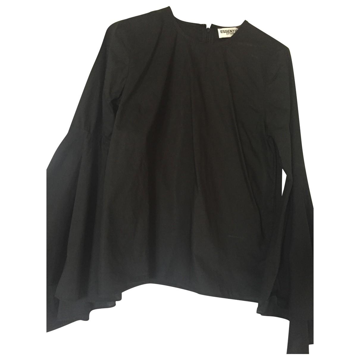 Essentiel Antwerp \N Black Cotton  top for Women 36 FR