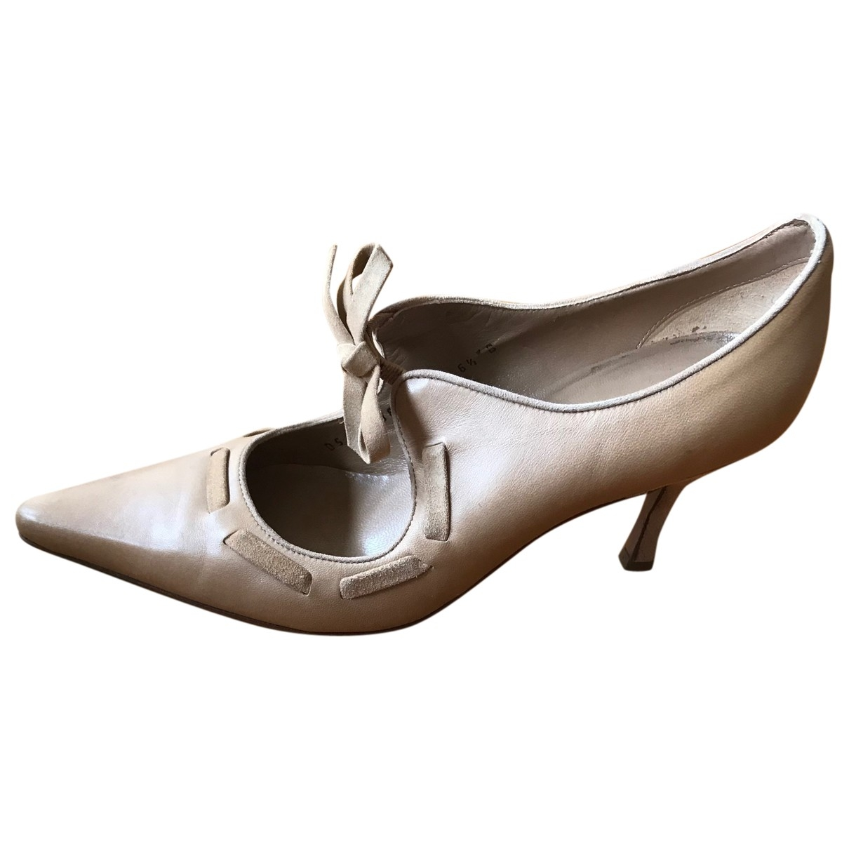 Salvatore Ferragamo \N Camel Leather Heels for Women 36.5 EU