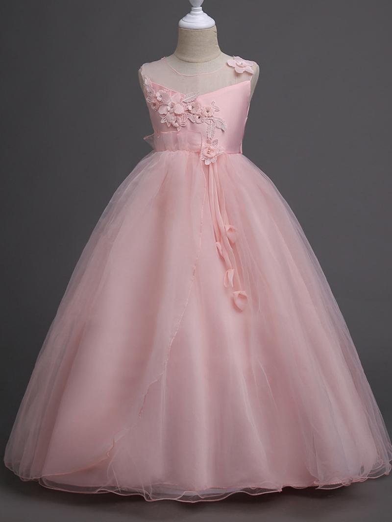 Ericdress Appliques Patchwork Ball Gown Girl's Dress