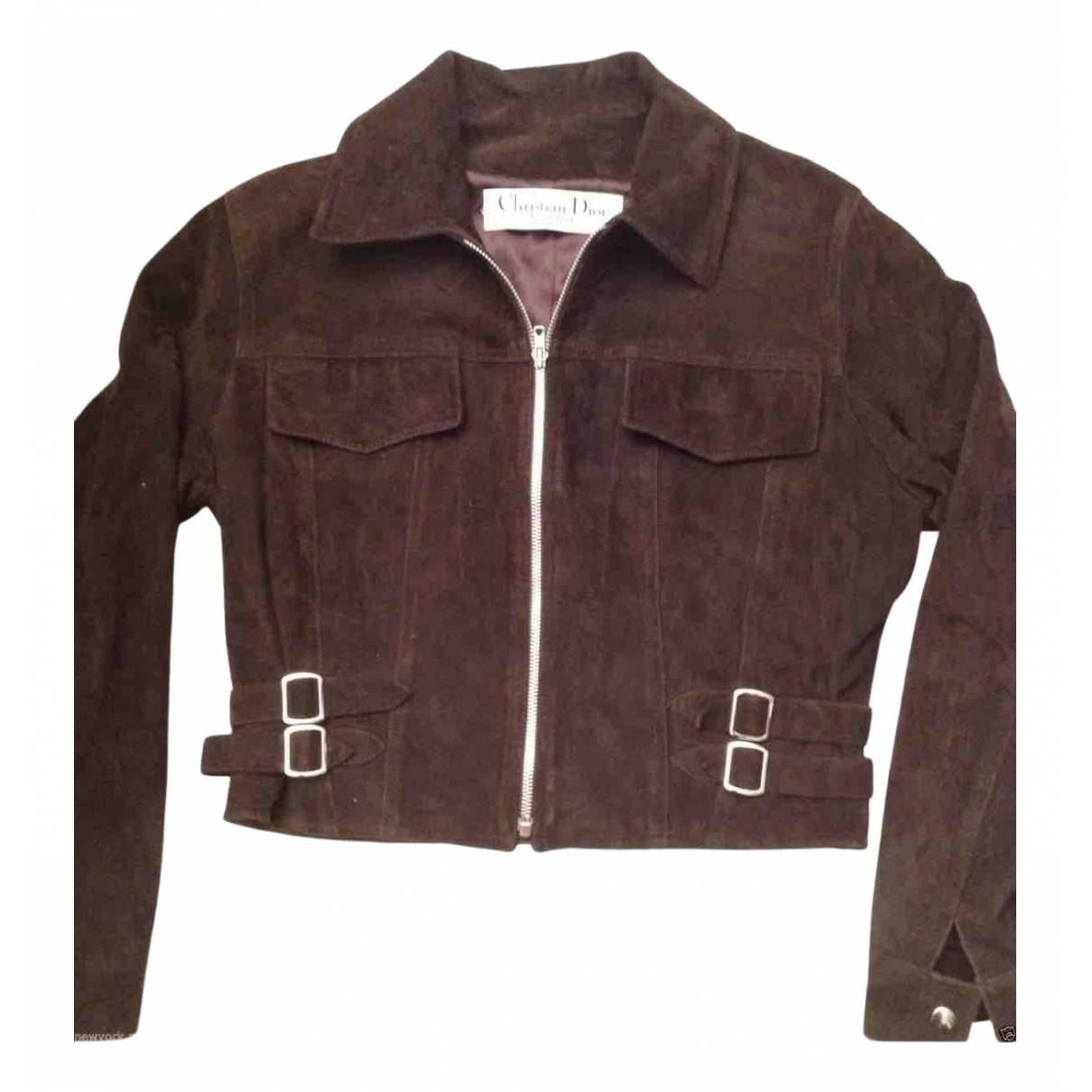 Dior \N Brown Suede Leather jacket for Women 40 FR