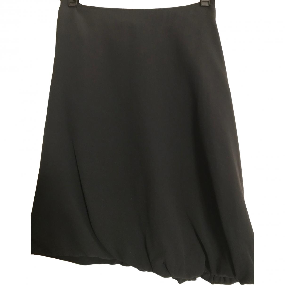 Jil Sander \N Black Silk skirt for Women 36 FR