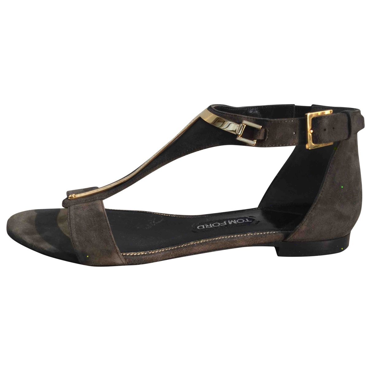 Tom Ford \N Khaki Suede Sandals for Women 41 IT