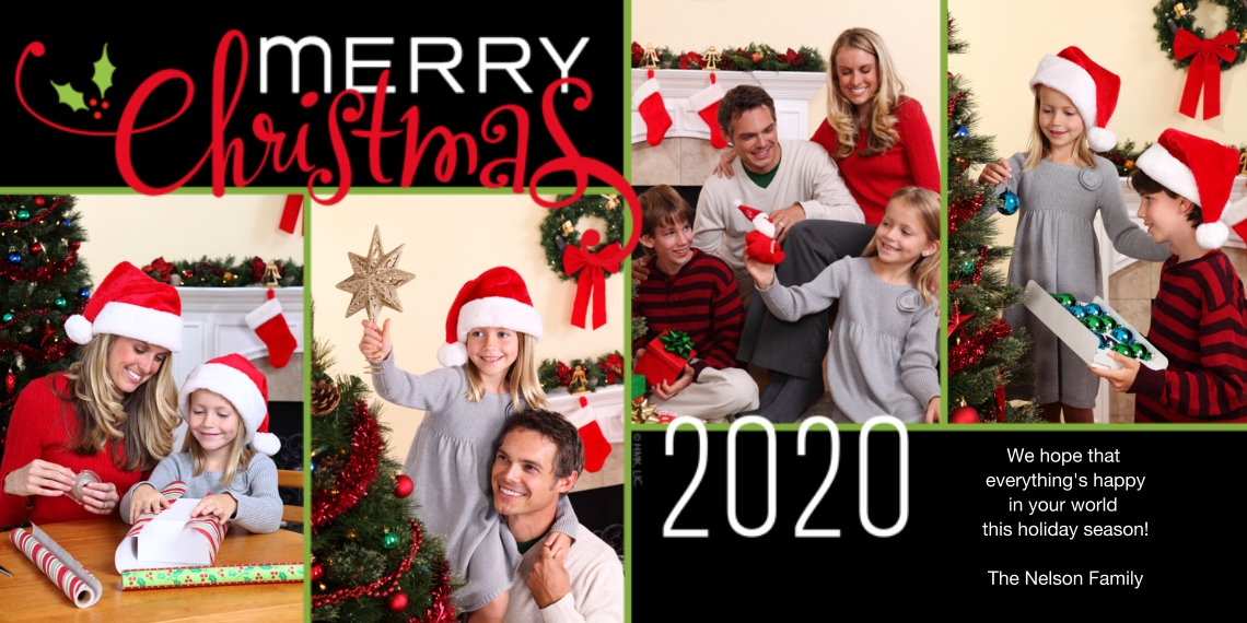 Christmas Photo Cards Flat Glossy Photo Paper Cards with Envelopes, 4x8, Card & Stationery -Merry Christmas 2020 by Hallmark