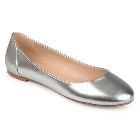Journee Collection Womens Kavn Ballet Flats, 9 Medium, Silver