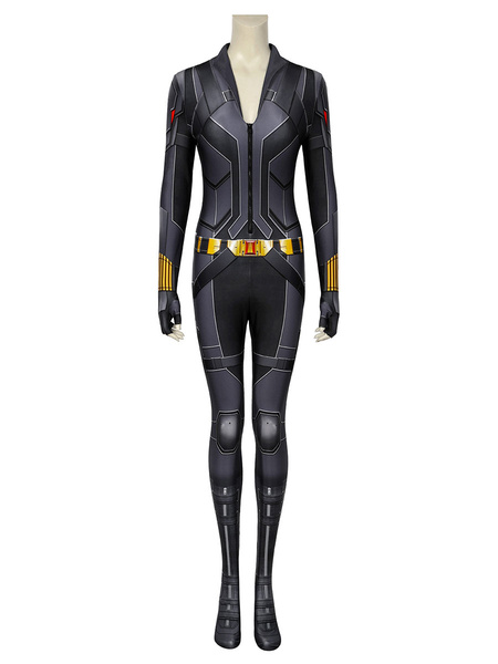 Milanoo Marvel Comics Marvel The Avengers Black Widow Natasha Romanoff Cosplay Costume Catsuit