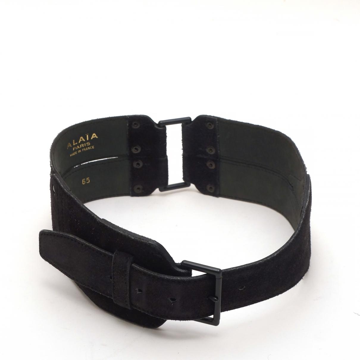 Alaïa \N Black Suede belt for Women 70 cm