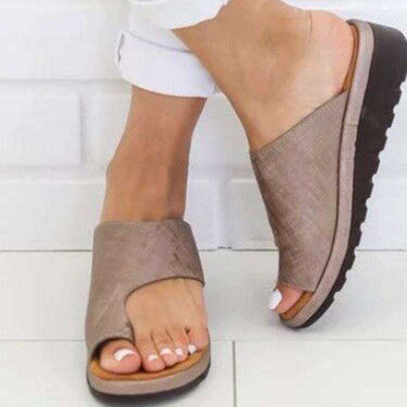 Ericdress Plain Platform Toe Ring Slip-On Women's Sandals
