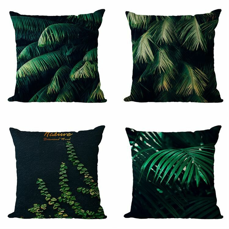 Tropical Plant Flax Pillowcase Hot Selling Car Cushion Home Sofa Cushion