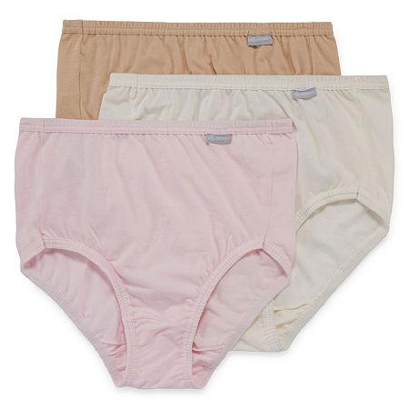 Jockey Elance Cotton Knit Brief Panty 1484, 6 , Brown