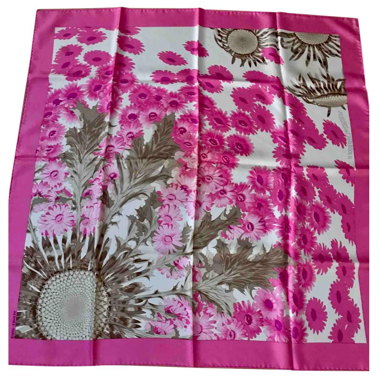 Hermès Carré 90 Pink Silk Silk handkerchief for Women \N