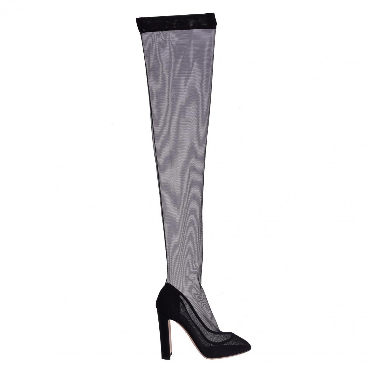 Dolce & Gabbana \N Black Cloth Heels for Women 40 EU