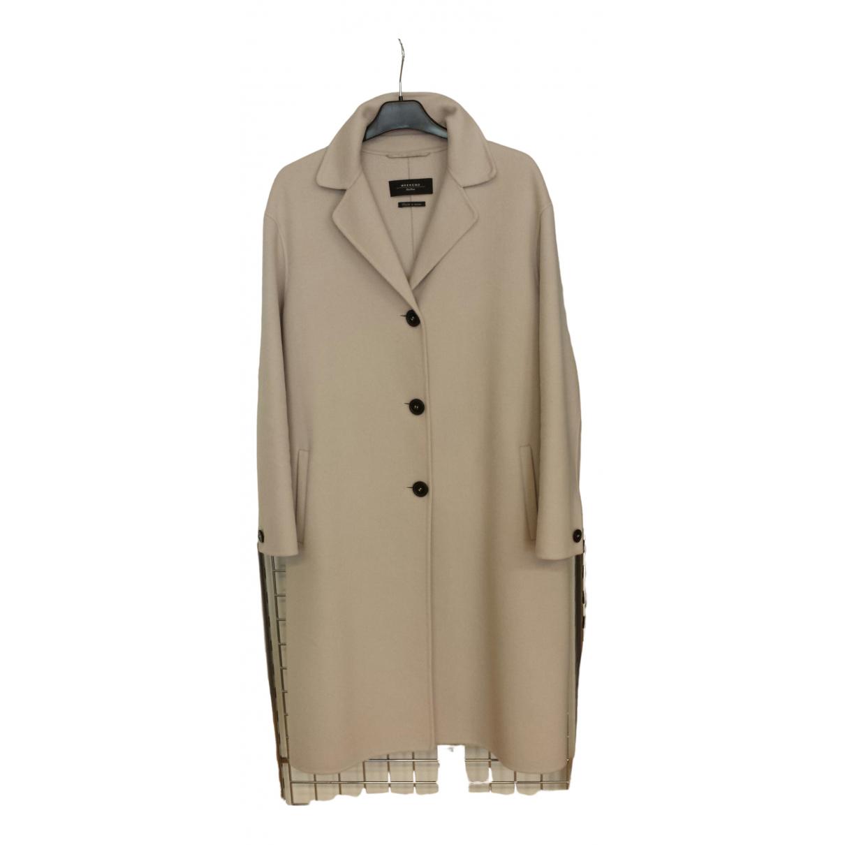 Max Mara Weekend \N Ecru Wool coat for Women 44 IT
