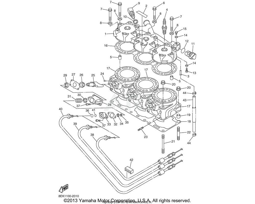 Yamaha OEM 8EK-11311-00-00 CYLINDER 1