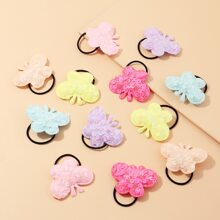 6pairs Toddler Girls Sequin Butterfly Hair Tie