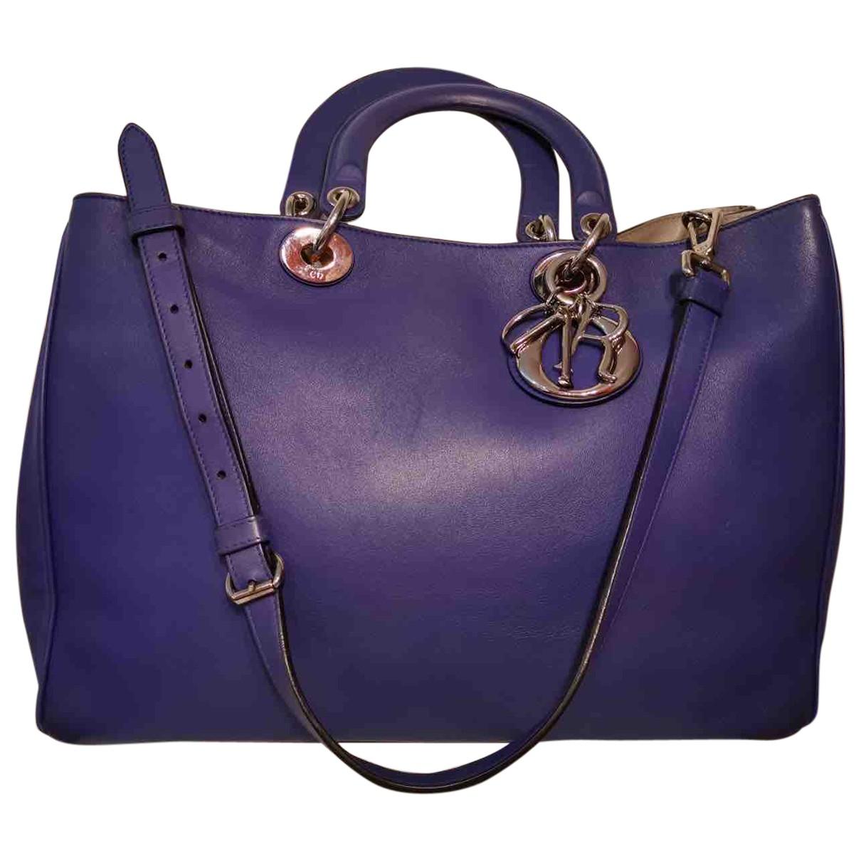 Dior Diorissimo Purple Leather handbag for Women \N