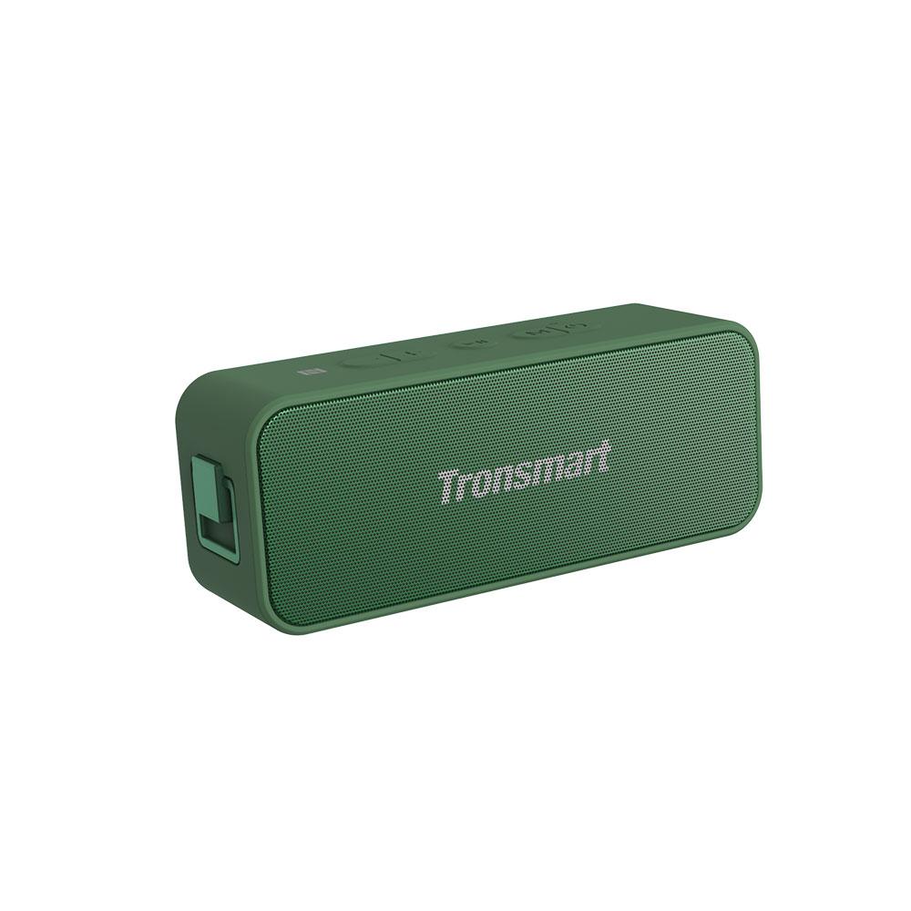 Tronsmart T2 Plus 20W Bluetooth 5.0 Speaker 24H Playtime NFC IPX7 Waterproof  Soundbar with TWS,Siri,Micro SD - Dark Green