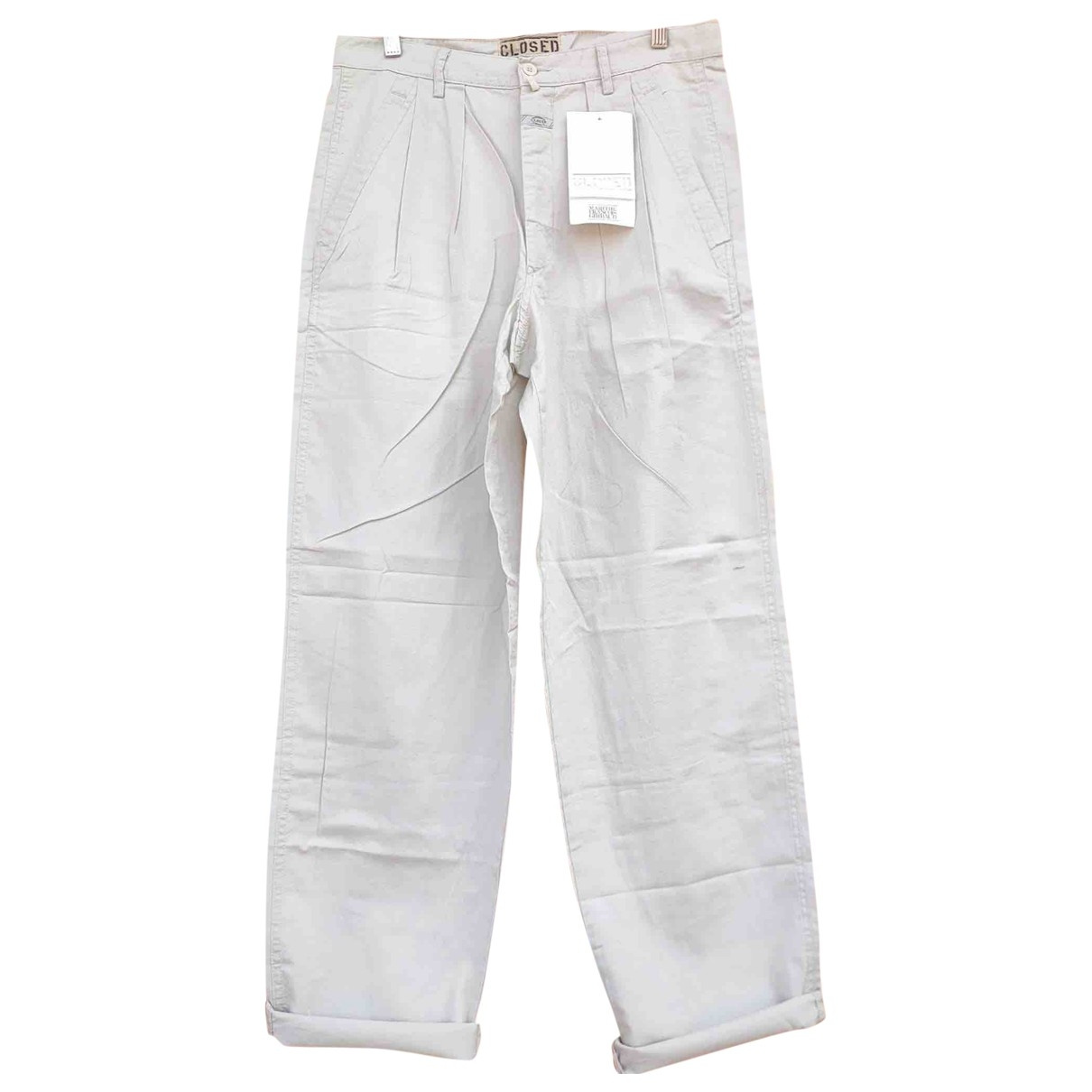 Closed \N Ecru Cotton Trousers for Men 50 IT