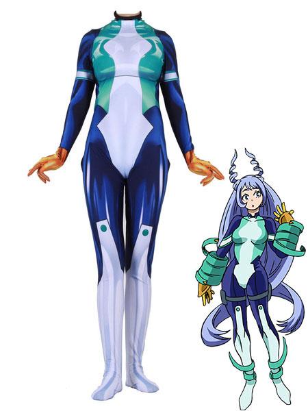 Milanoo Boku No Hero Academia Cosplay Nejire Hado White Lycra Spandex Jumpsuit Cosplay Costumes