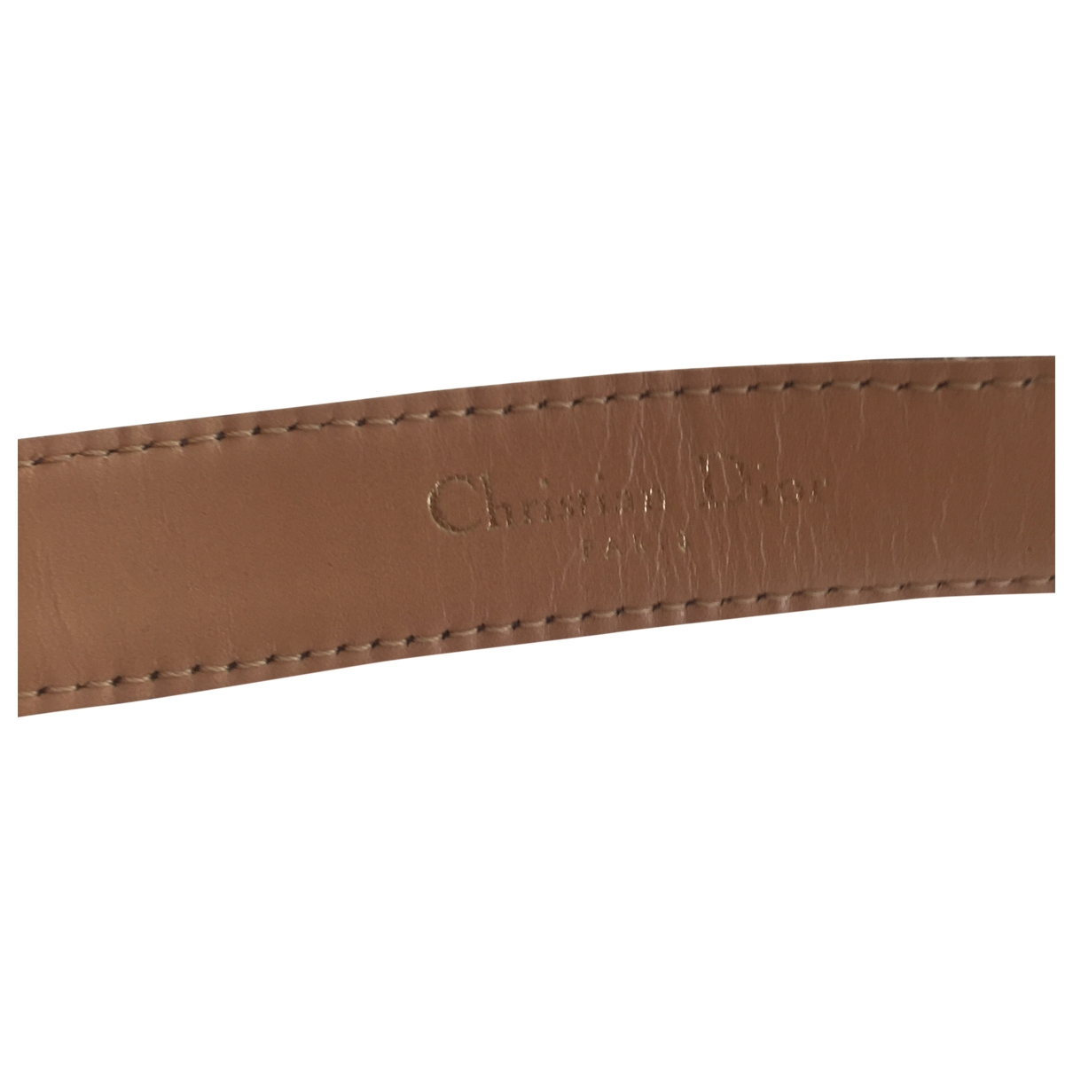 Dior \N Brown Leather belt for Women 80 cm