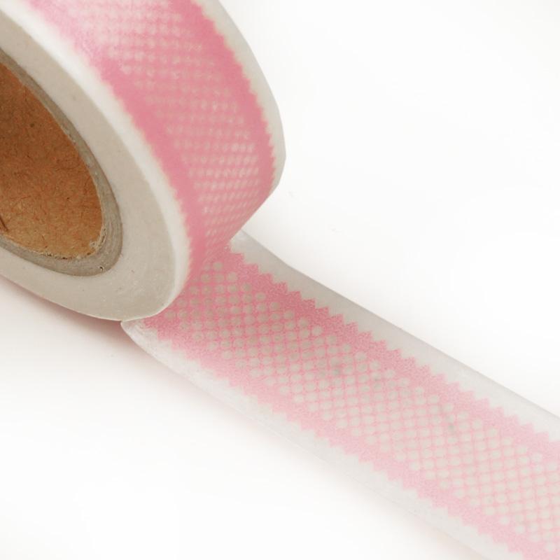 9/16 X 10 Yards Colored Pink Ribbon Washi Tape by Ribbons.com