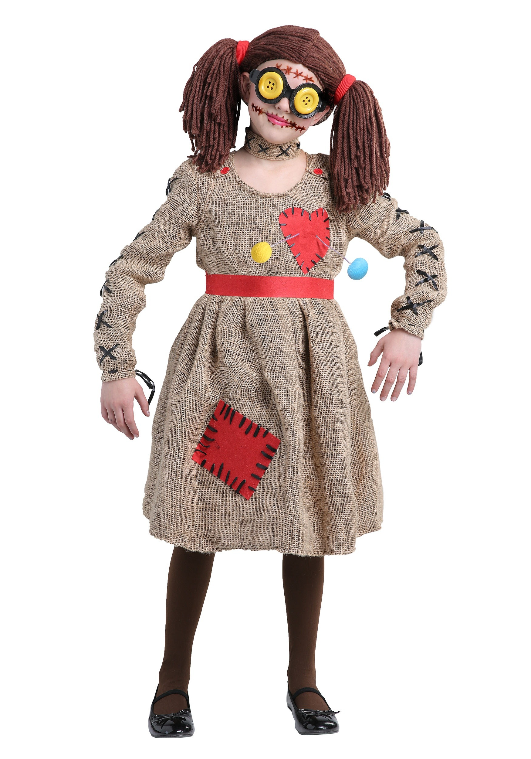 Voodoo Doll Burlap Costume for Girls