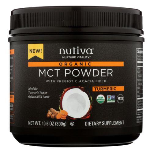 Organic MCT Powder Turmeric 10.6 Oz by Nutiva
