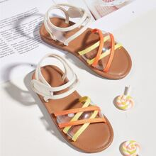 Toddler Girls Clear Ankle Strap Sandals
