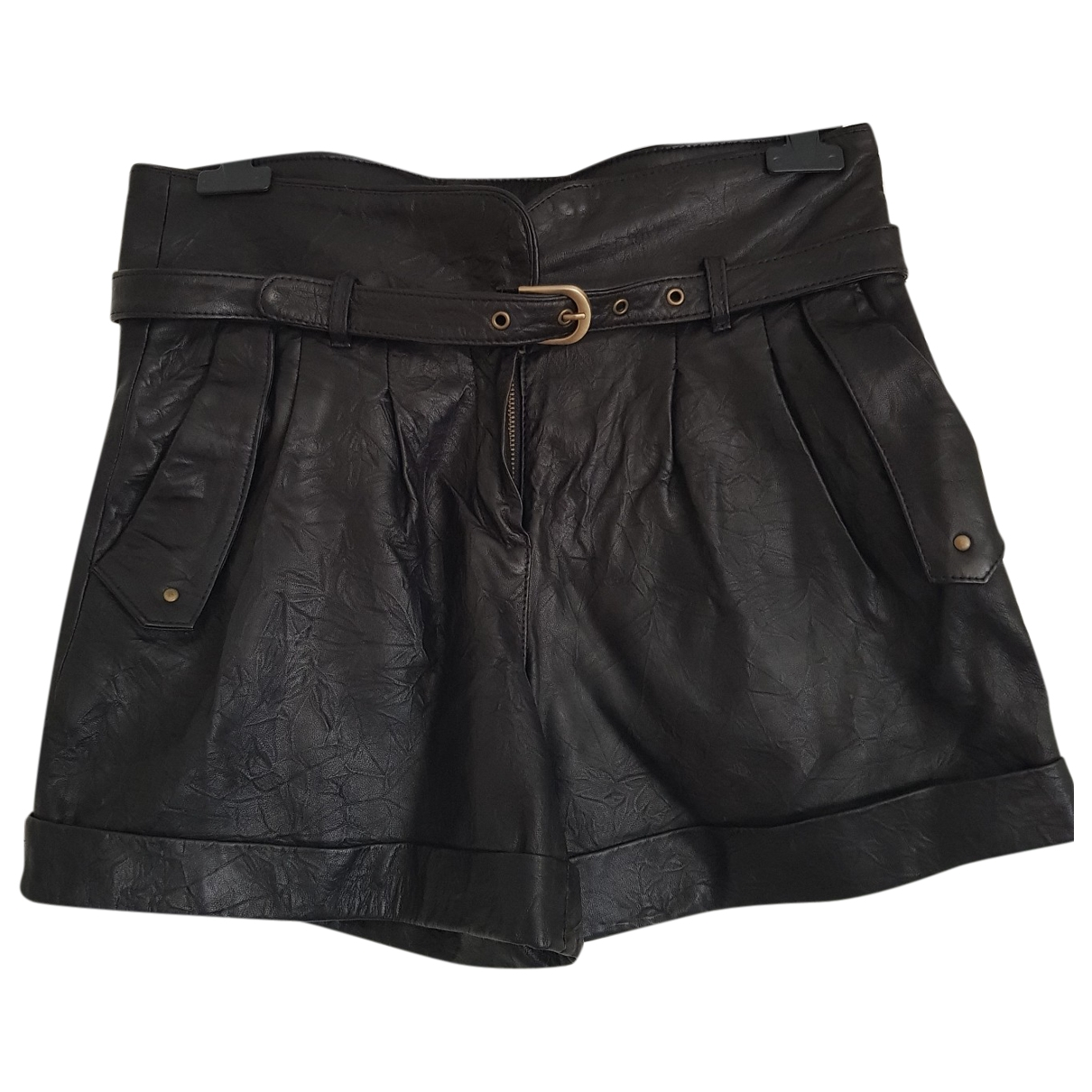 Alice By Temperley \N Black Leather Shorts for Women 10 UK