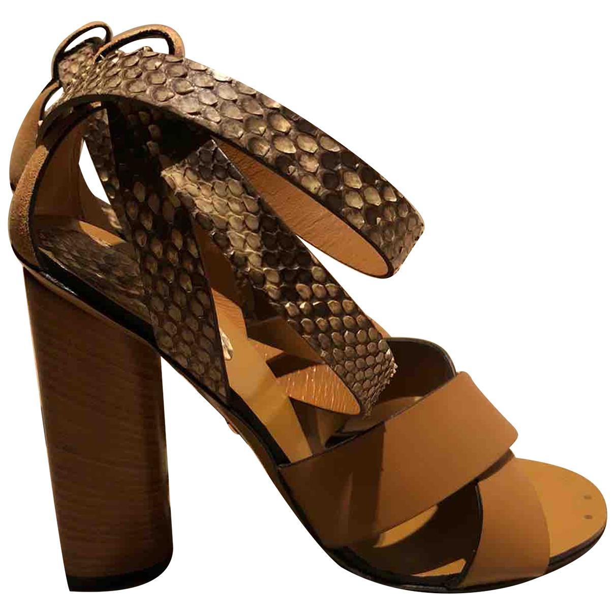Gucci \N Brown Python Sandals for Women 36 EU
