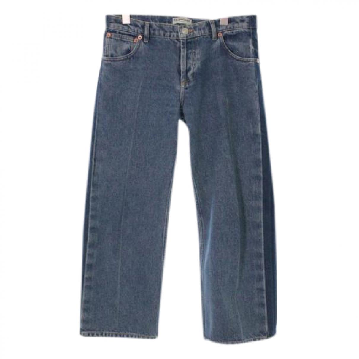 Balenciaga \N Blue Cotton Jeans for Women 34 FR